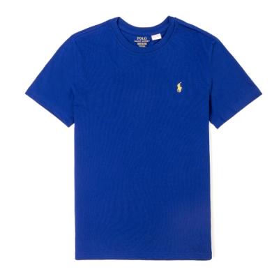 Polo Ralph Lauren 經典小馬圓領T恤(青年款)-寶藍色