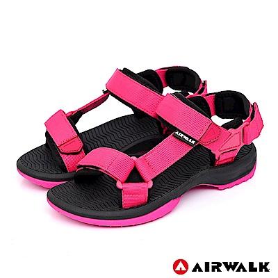 【AIRWALK】Y字兩用休閒涼鞋-深紅