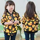 小衣衫童裝 中性款黃色小鴨太空棉拉鍊外套1040335