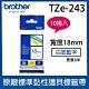 【10入組】brother 原廠護貝標籤帶 TZe-243 (白底藍字 18mm) product thumbnail 2