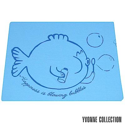 YVONNE COLLECTION 泡泡魚單人薄紗被(5x7呎)-藍