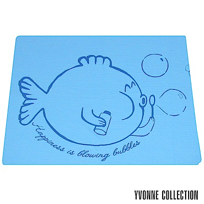 YVONNE COLLECTION 泡泡魚小薄紗被(4x5呎)-藍