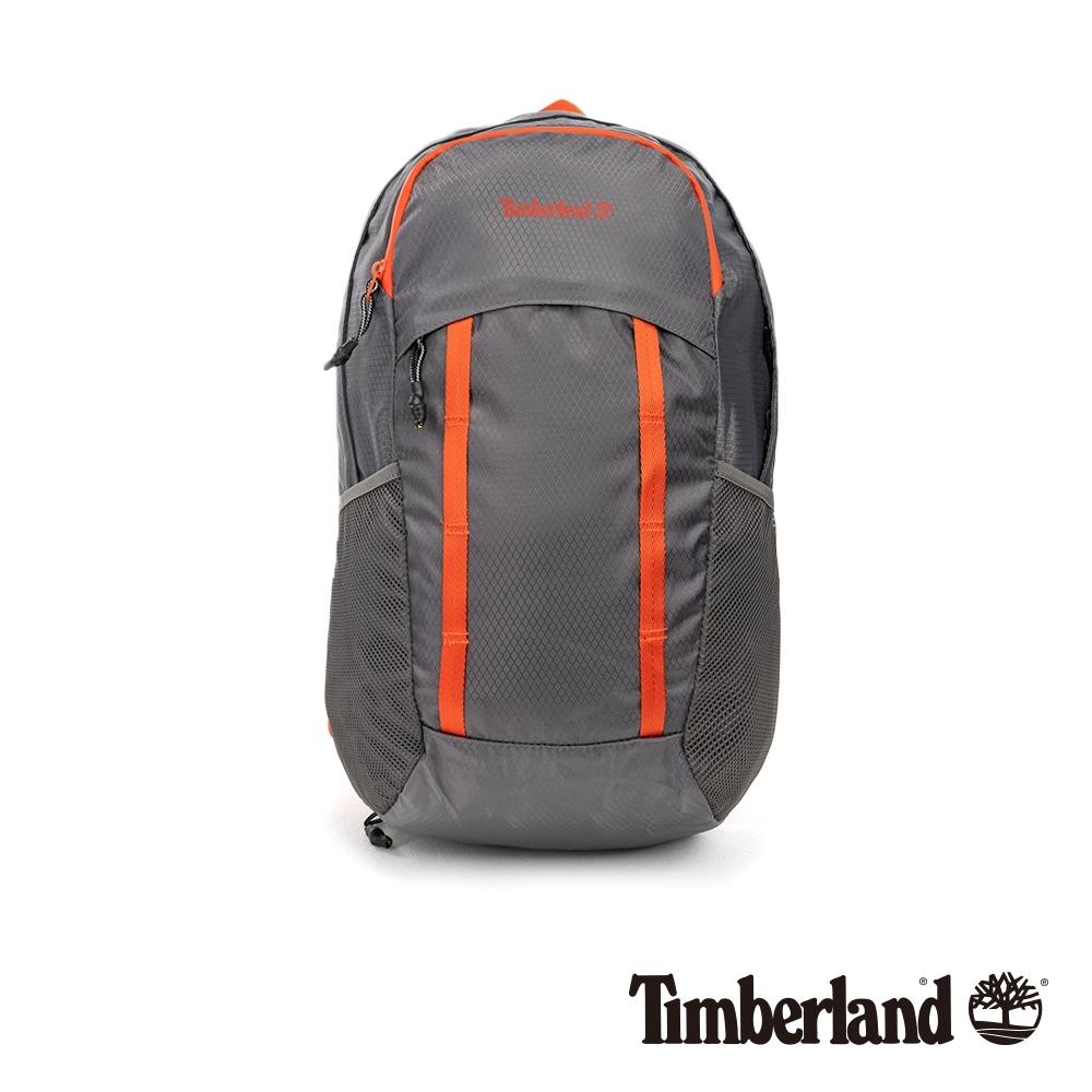Timberland 中性鐵灰撞色休閒雙肩包 A2FVH