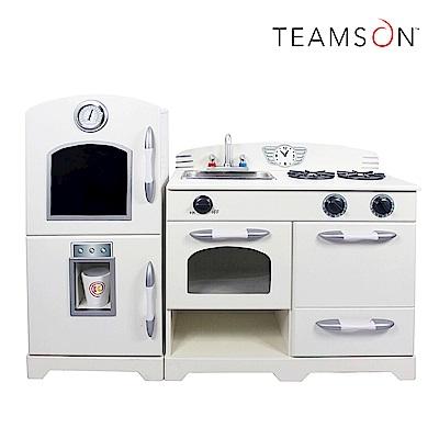 Teamson 小廚師費爾德復古風格玩具冰箱廚房 (2件組)