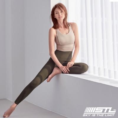 STL Yoga Leggings Free Line 9 韓國瑜珈『無尷尬線』 高腰壓腹 訓練拉提緊身褲 自由曲線 橄欖綠 重訓/路跑/登山/瑜珈