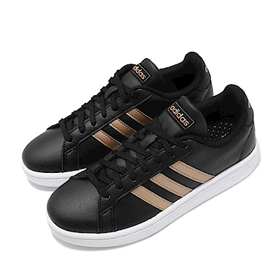 adidas 休閒鞋 Grand Court 復古 皮革 女鞋