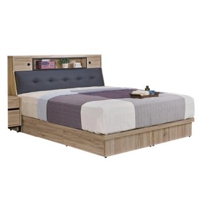 文創集 納多德5尺雙人床台(床頭箱+四抽床底+無床墊)-152x212x105.5cm免組