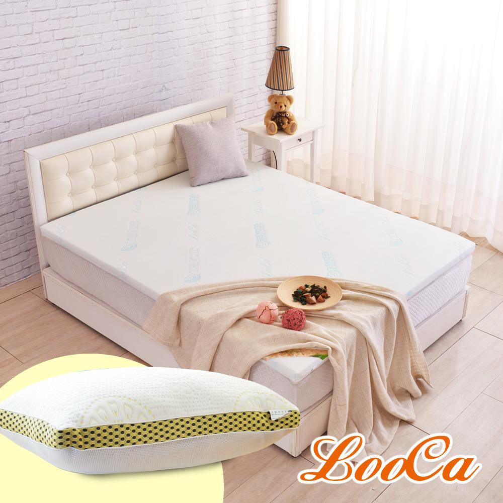 (破盤組)LooCa 水漾天絲5cm天然乳膠床墊-加大6尺 @ Y!購物