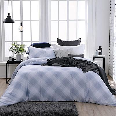 BBL Premium 藍調暖呢100%萊賽爾纖維-天絲.印花兩用被四件式床包組(加大)