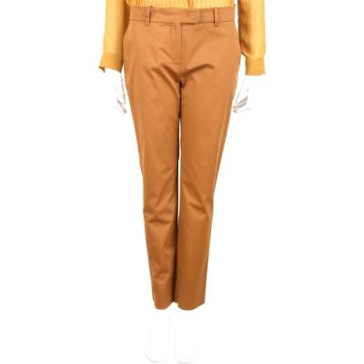 MAX MARA 桔棕色極簡素面西裝直筒長褲