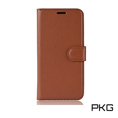 PKG 紅米Note5 側翻式-精選皮套-經典款式-棕