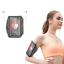 ROCK 超薄視窗運動臂帶 超薄型貼身 多功能戶外手機收納包 跑步臂套