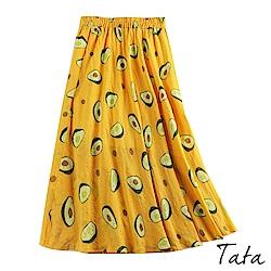 酪梨印花半身裙 共二色 TATA