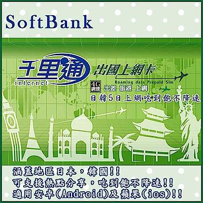 日韓上網卡 5天無限上網吃到飽保證不降速上網卡