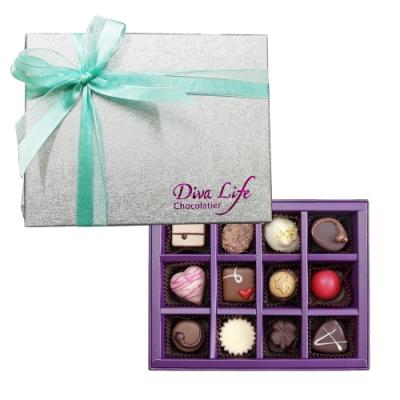 Diva Life Dazzling璀璨經典巧克力禮盒 (夾心12入)