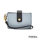 FOSSIL Mini Tab Wallet 系列多層小夾-粉藍色