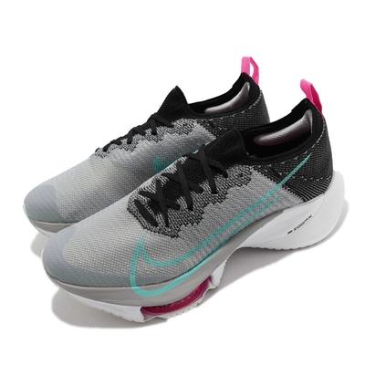 Nike Air Zoom Tempo Next% FK 男鞋 氣墊 避震 針織鞋面 包覆 路跑 健身 灰 白 CI9923-006