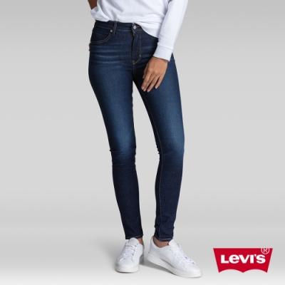 Levis 女款 Revel 高腰緊身提臀牛仔褲 超彈力塑形布料 暈染刷白