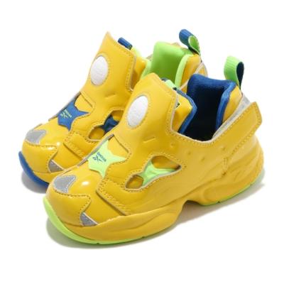 Reebok 休閒鞋 Versa Pump Fury 童鞋 經典款 充氣科技 小小兵 小童 穿搭 黃 藍 FY3405