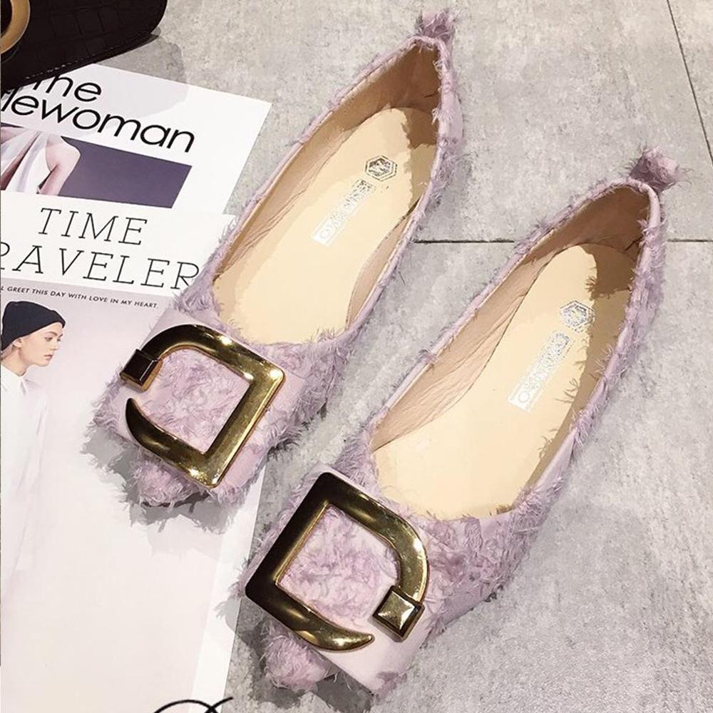 韓國KW美鞋館 爆推款超軟百搭開叉平底鞋-粉色