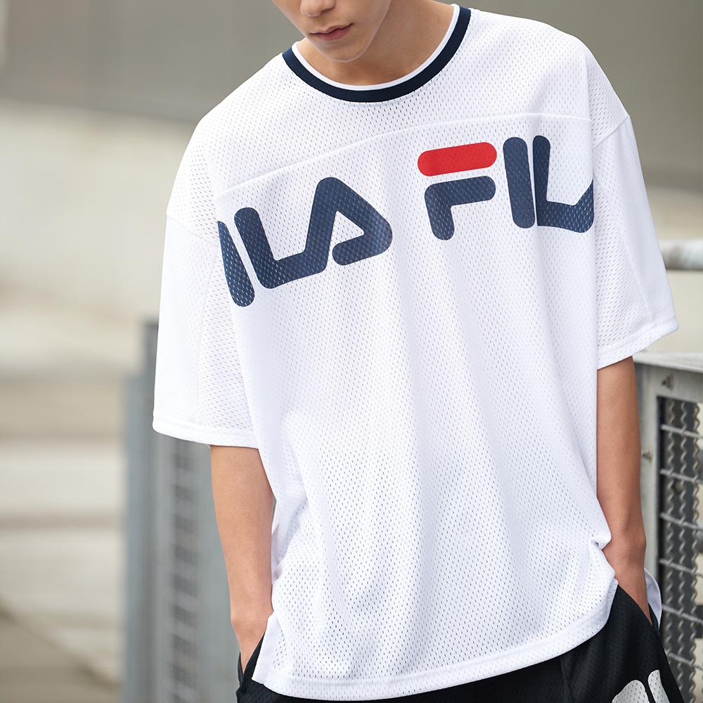 FILA #架勢新潮 短袖圓領T恤-白色 1TEV-1412-WT