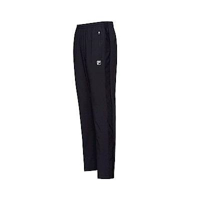 FILA 男款抗UV平織長褲-黑色 1PNT-1314-BK