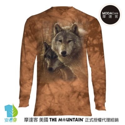 摩達客 預購 美國The Mountain 森林狼王子 純棉長袖T恤