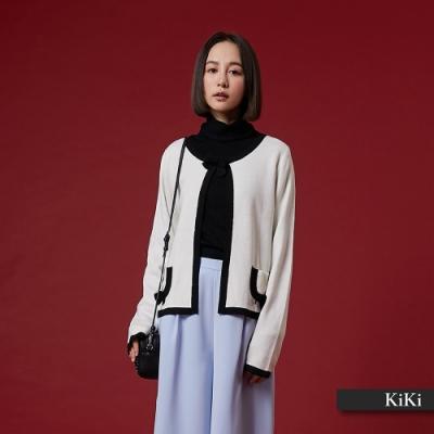 【KiKi】香奈兒名媛外套-針織衫(二色)