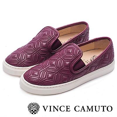 VINCE CAMUTO 簡約幾何舒適氣墊懶人鞋-酒紅