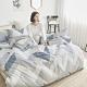 BUHO 天然嚴選純棉單人床包+雙人兩用被套三件組(藍禾沁日) product thumbnail 1
