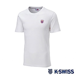 K-SWISS Wintage Shield Logo Tee印花短袖T恤-男-白