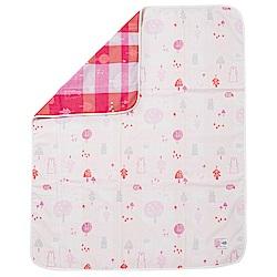 奇哥 森林家族四層紗布被-粉紅(110×135cm)