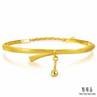 點睛品 時尚蝴蝶結黃金手鐲_計價黃金