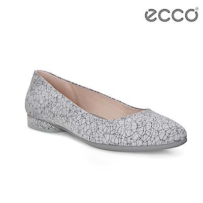 ECCO ANINE 輕彈躍芭蕾舞鞋 骨瓷皮革 女-灰