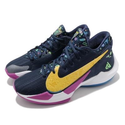 Nike 籃球鞋 Zoom Freak 2 EP 男 氣墊 避震 包覆 字母哥 藍 黃 DB4738400