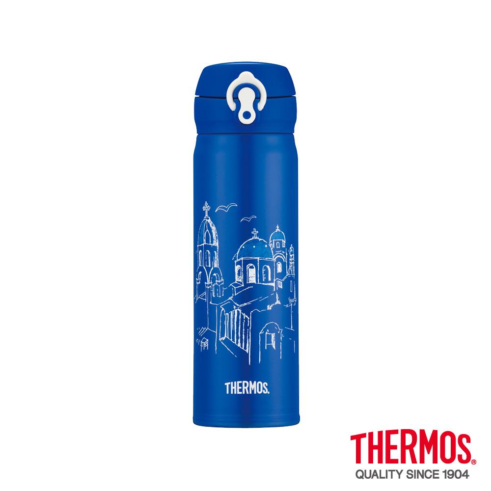 THERMOS膳魔師超輕量希臘篇限量不鏽鋼保溫瓶0.5L(JNL-500-AS)