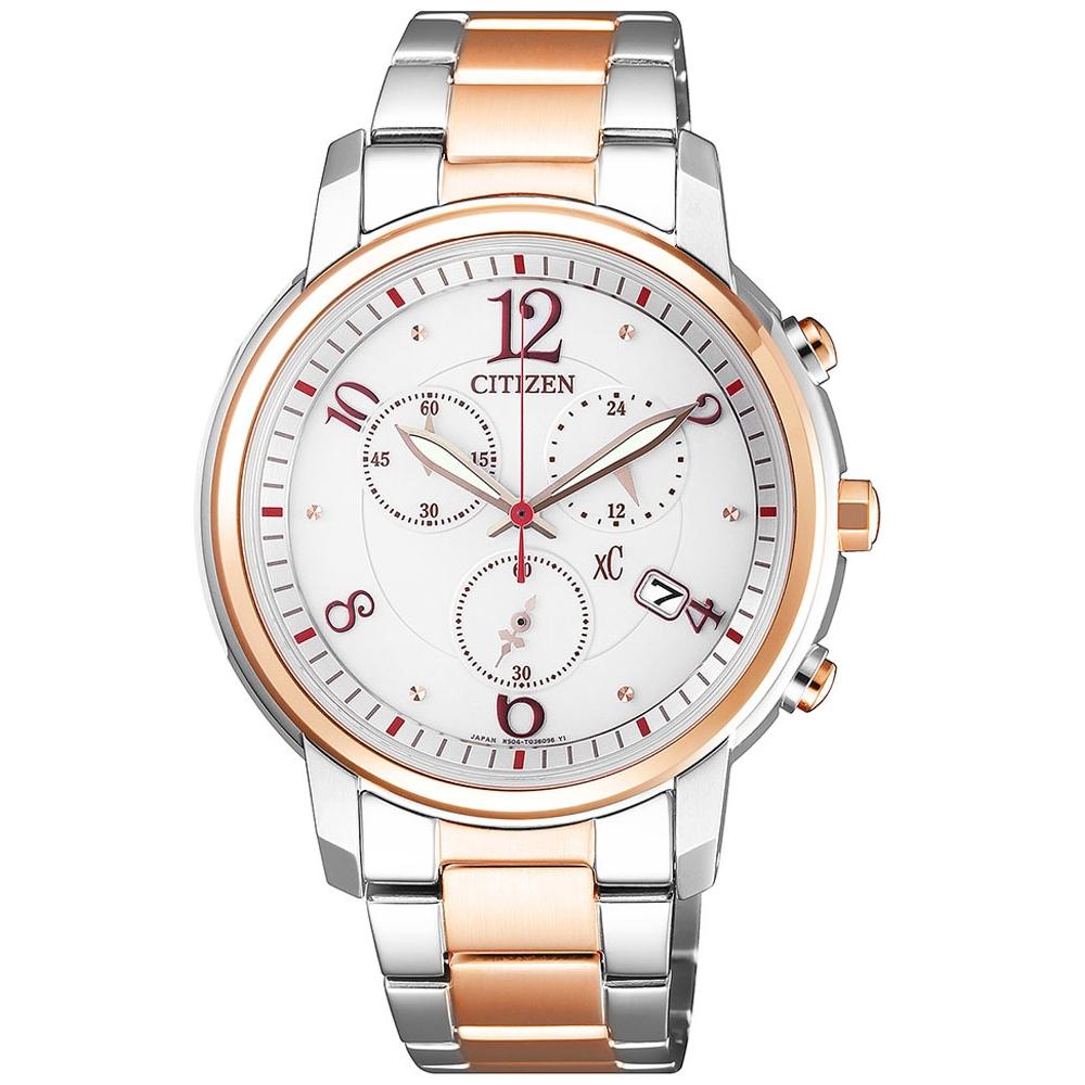 CITIZEN XC甜美迎人光動能時尚腕錶(FB1435-57A)