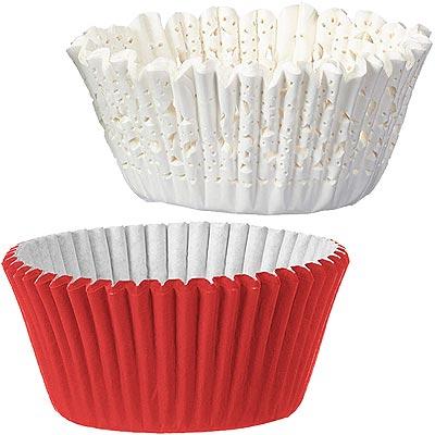 《Wilton》鏤空蛋糕紙模48入(紅白)