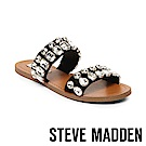 STEVE MADDEN-REASON雙水鑽鑲嵌二字帶平底拖-黑色