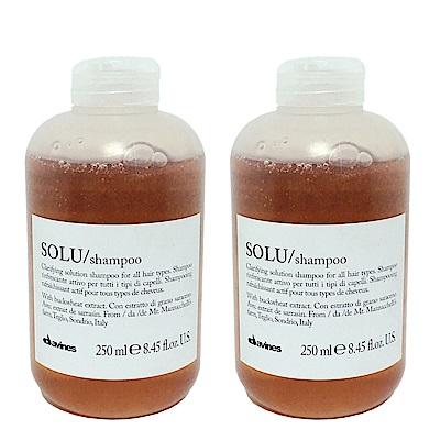 Davines達芬尼斯 SOLU清爽深層洗髮露 250ml(全新包裝) 2入
