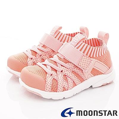 日本月星頂級競速童鞋 襪套輕量鞋款 TW2294橘(中小童段)