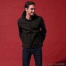 GIORDANO 男裝連帽立領內植絨休閒外套-57 迷彩綠X標誌黑