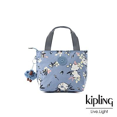 Kipling 粉紫藍柔雅花卉大容量單層手提包-MANA