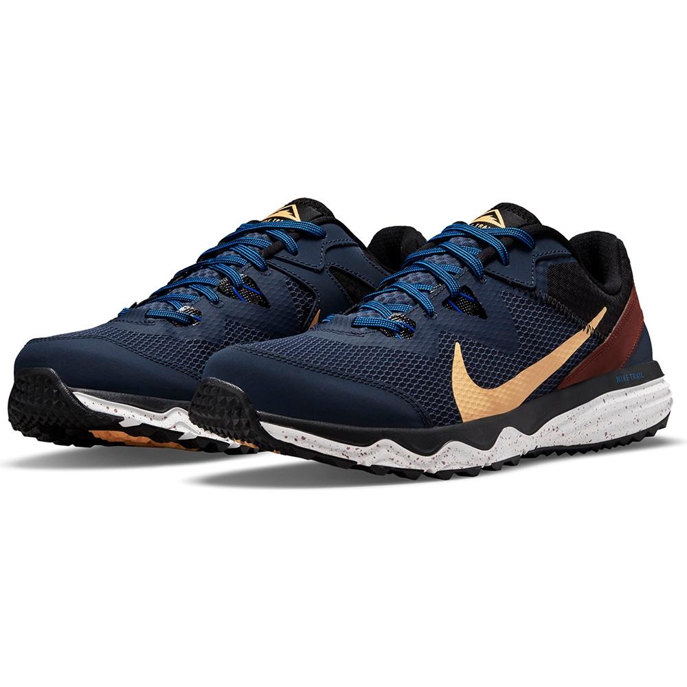 NIKE 耐吉 慢跑鞋 運動鞋 緩震 男鞋 藍黃 CW3808-401 JUNIPER TRAIL