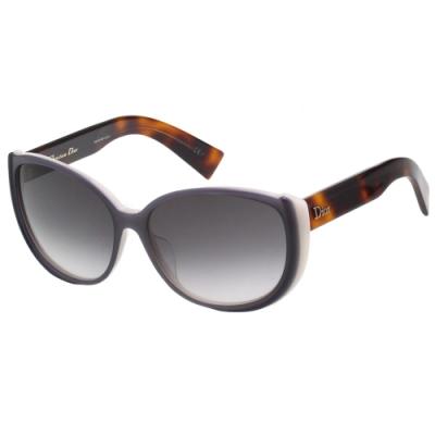 Dior 經典復古 太陽眼鏡(灰紫+白+琥珀色)