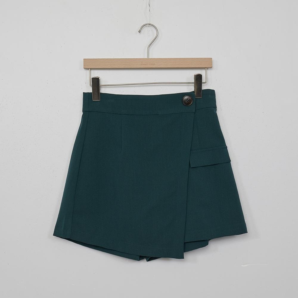 beartwo-簡約俏麗短褲-深綠