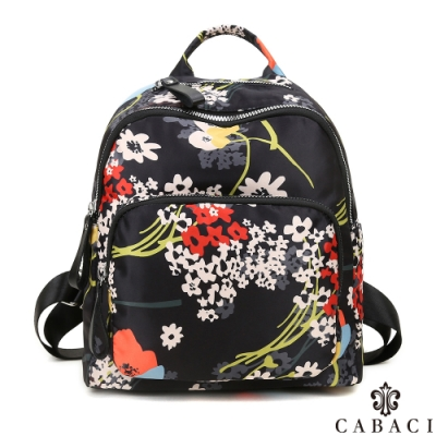 CABACI 花系列輕量尼龍材質後背包-和風花卉