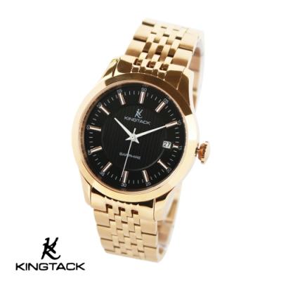 KINGTAGK 典雅品味時尚簡約機械腕錶38mm黑金