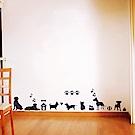 香草花園 手繪動物組合壁貼-俏皮狗2入組