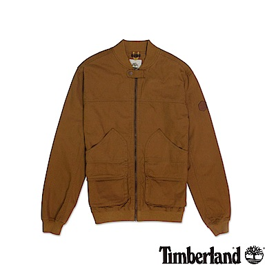 Timberland 男款棕色立領戶外飛行夾克外套|A1DEO